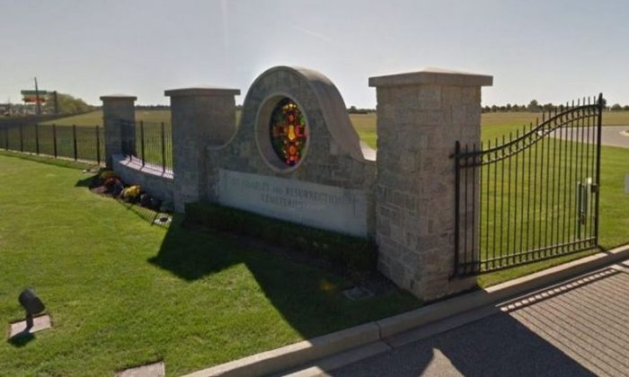 The incident took place in December 2016 at St. Charles Resurrection Cemetery in Long Island. (Google Street View)