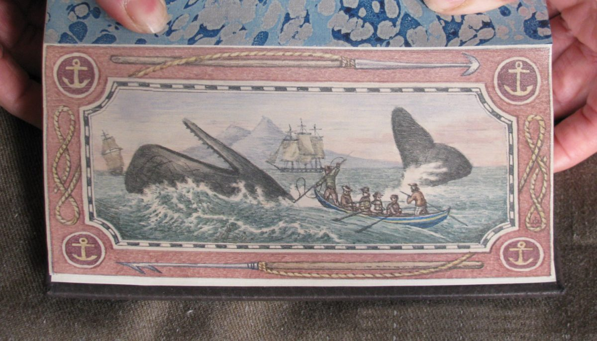 Moby Dick painting on book