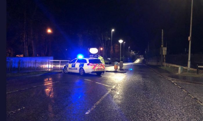 Police have now re-opened the road at the Greenvale hotel in Cookstown, Ireland, after reports of two young deaths during a St. Patrick's day party. (Brendan Marshall)