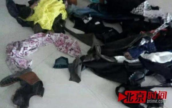Damaged clothing