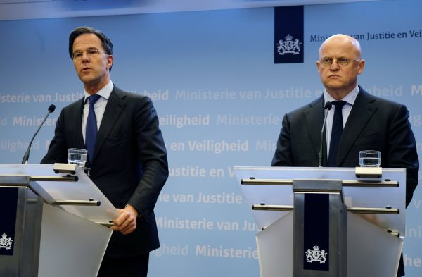 Mark Rutte and Ferd Grapperhaus