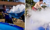 This Is What Happens When 1000Lbs of Dry Ice Are Dropped Into a Pool