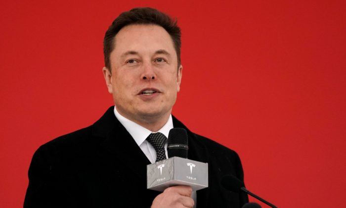 Tesla CEO Elon Musk attends the Tesla Shanghai Gigafactory groundbreaking ceremony in Shanghai, China Jan. 7, 2019. (Aly Song/Reuters)