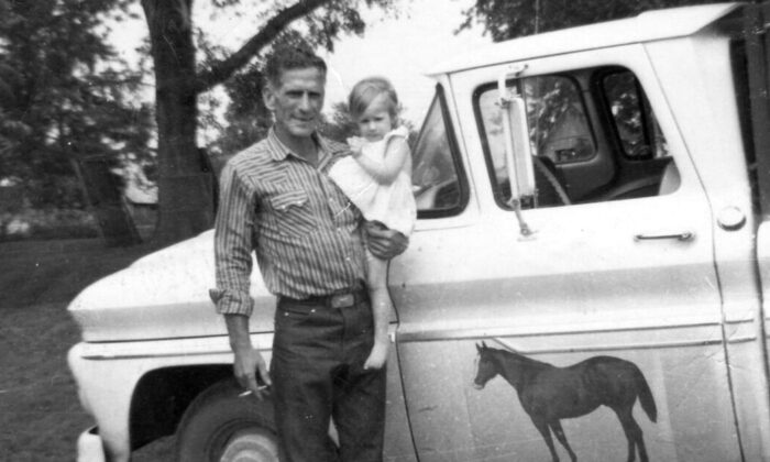 Barbara with her father in 1965.