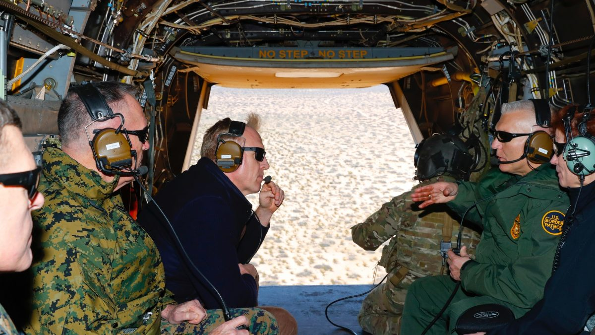 Pentagon chief at Mexico border