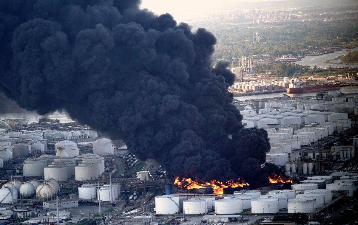Petrochemical fire Texas 2