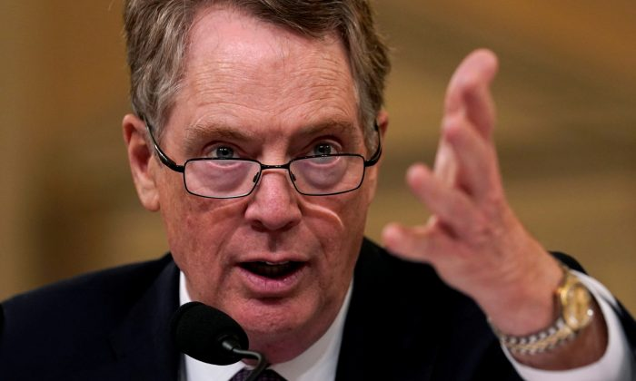 U.S. Trade Representative Robert Lighthizer on Capitol Hill in Washington D.C. on Feb. 27, 2019. (Kevin Lamarque/Reuters)