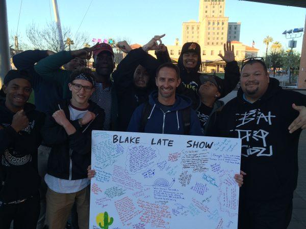 Blake with dance crew