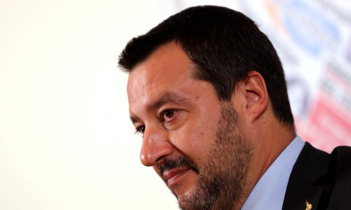 Italian Deputy Prime Minister and League party leader Matteo Salvini in Rome on Dec. 10, 2018. (Tony Gentile/Reuters)