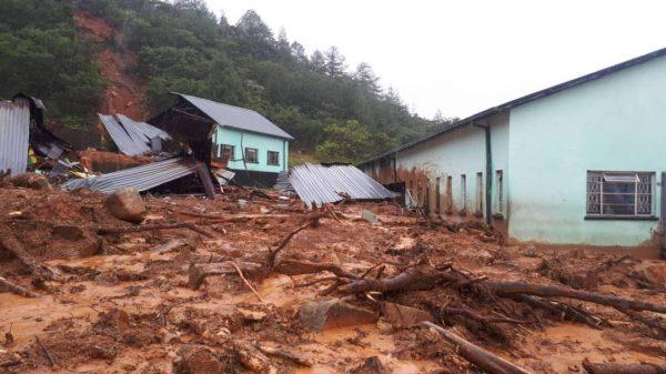 Homes damaged by Cyclone Idai