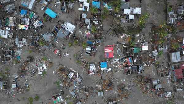 destruction after Cyclone Idai in Mozambique