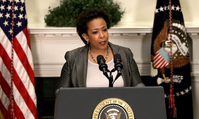 Then-Attorney General nominee Loretta Lynch speaks during a ceremony at the White House on Nov. 8, 2014. (Win McNamee/Getty Images)
