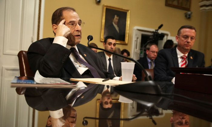 Rep. Jerrold Nadler (D-N.Y.) (L) speaks during a House Rules Committee meeting at the U.S. Capitol in Washington on Feb. 25, 2019. (Alex Wong/Getty Images)