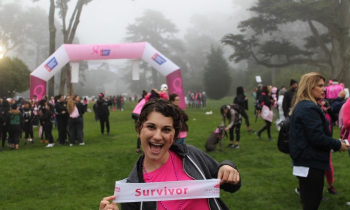 Rachael Ocello at the San Francisco American Cancer Society Breast Cancer Walk after she found out she was in remission. (Courtesy of Rachael Ocello)