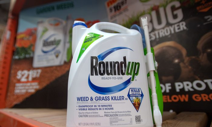 Roundup products for sale at a hardware store in San Rafael, Calif., on July, 9, 2018. (JOSH EDELSON/AFP/Getty Images)