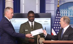 President Trump Donates Paycheck to Department of Homeland Security
