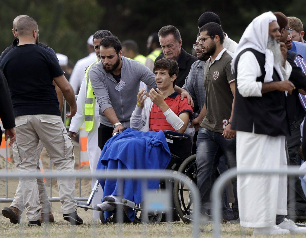 Zaed Mustafa, in wheelchai