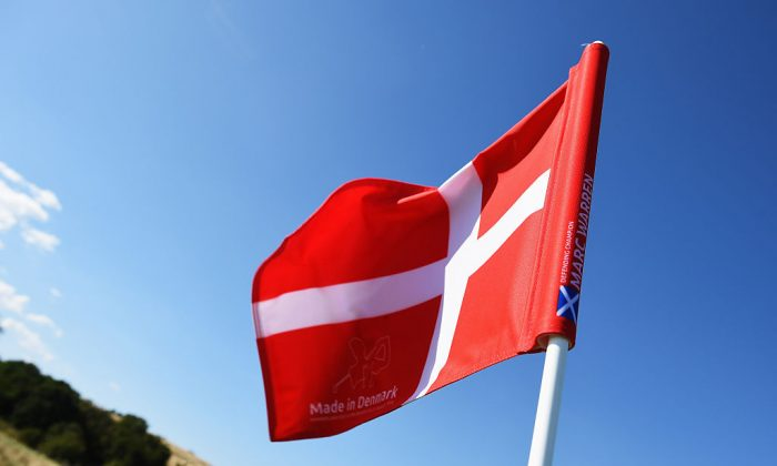 A Danish flag flies over the Himmerland Golf & Spa Resort in Aalborg, Denmark on Aug. 19, 2015. (Stuart Franklin/Getty Images)