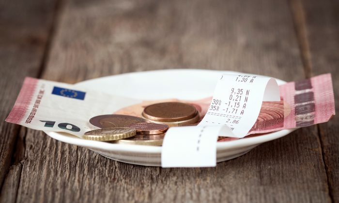 A stock photo of a bill at a restaurant  (Illustration - Shutterstock)