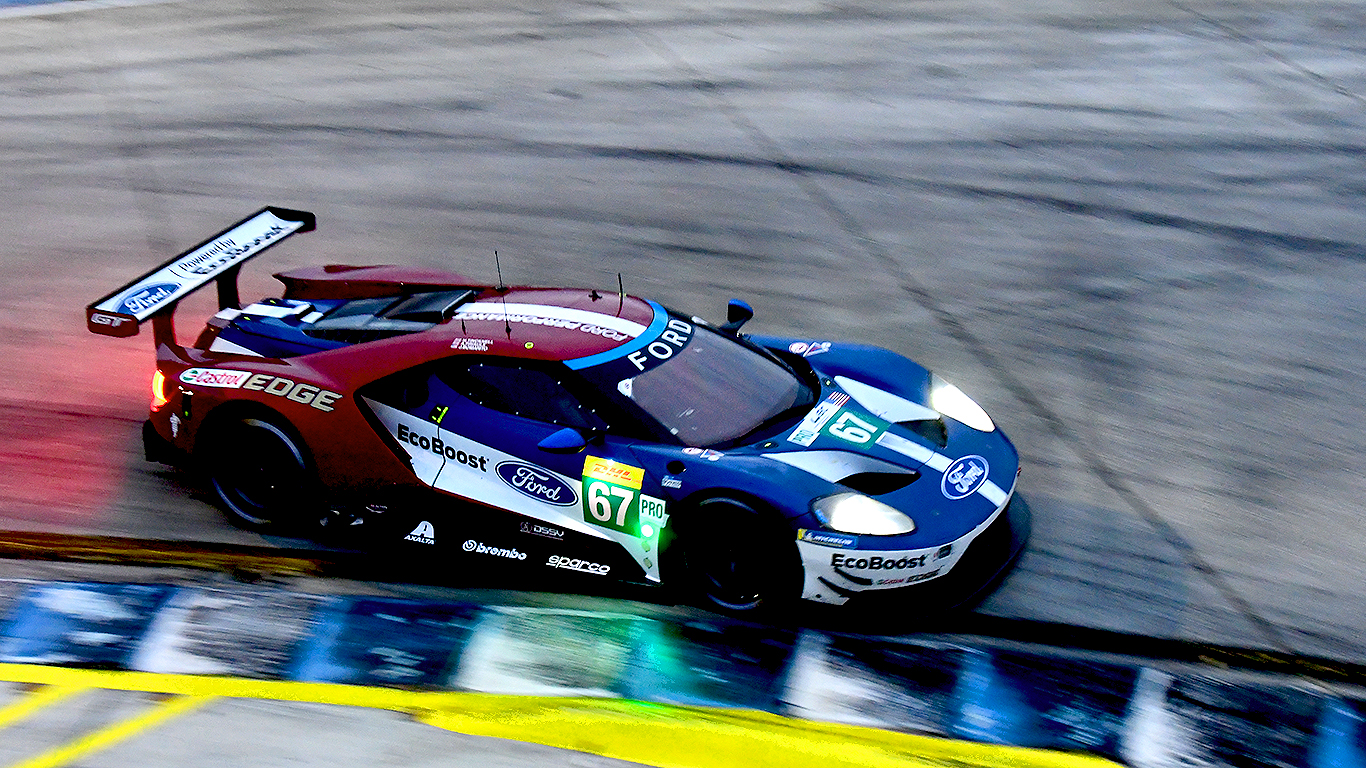 The #67 Ganassi UK Ford GT finished third in GTE-Pro