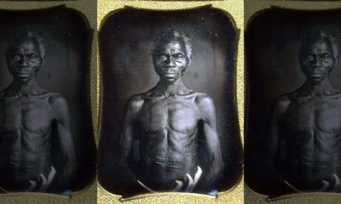 This July 17, 2018 copy photo shows an 1850 Daguerreotype of Renty, a South Carolina slave who Tamara Lanier, of Norwich, Conn., said is her family's patriarch. (Courtesy of Harvard University/The Norwich Bulletin via AP)