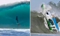 Massive Waves Hit Shores Around the World