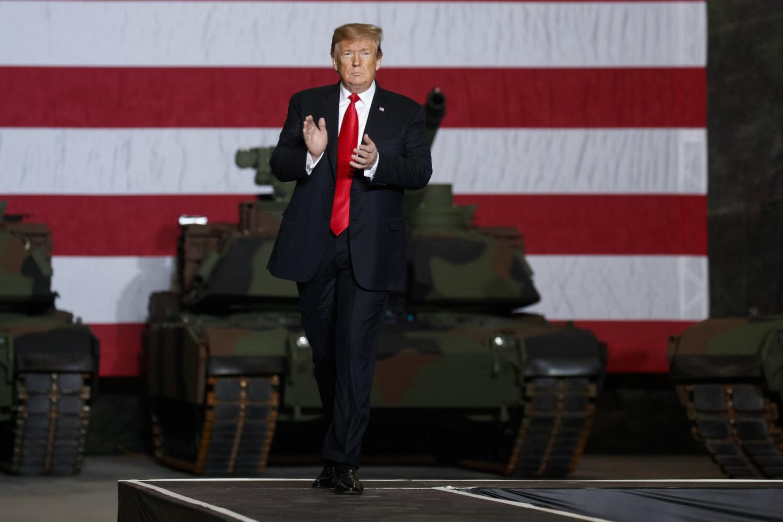 President Donald Trump in Ohio