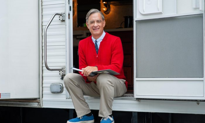Actor Tom Hanks plays the late television personality Fred Rodgers in the upcoming movie, A Beautiful Day in the Neighborhood. (Courtesy of Sony Pictures)