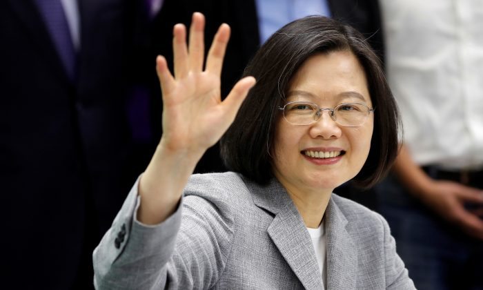 Taiwan President Tsai Ing-wen attends a ceremony to sign up for Democratic Progressive Party's 2020 presidential candidate nomination in Taipei, Taiwan on March 21, 2019. (Tyrone Siu/Reuters)