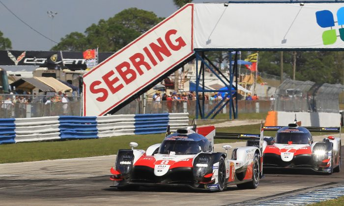 Nothing could match the speed of the Toyota TS050 Hybrids, which finished 1–2 in the WEC 1,000 Miles of Sebring on March 15 in Sebring, Florida. (Chris Jasurek./Epoch Times)