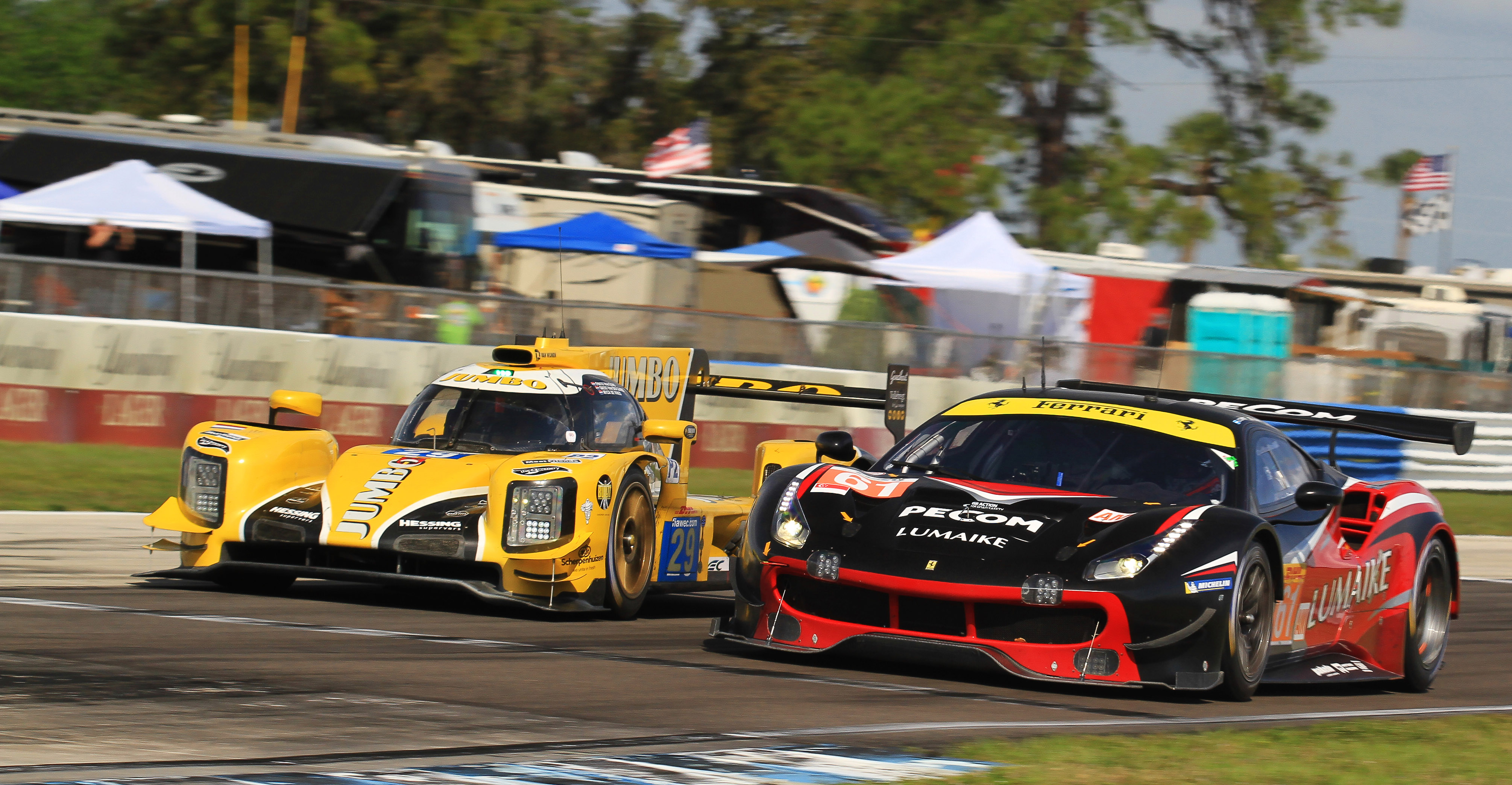 Multi-class racing at its best--GT versus prototype