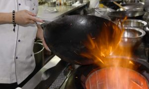 Slippery Stir-Fry Surprise! Novice Chef's Cooking Mistake Makes an Eel-Covered Kitchen