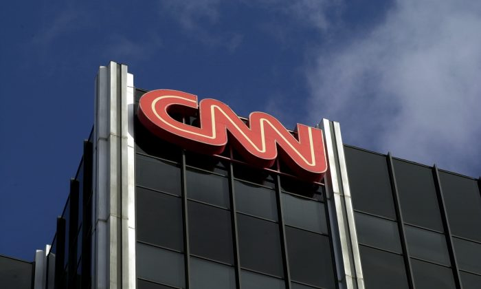The Cable News Network (CNN) logo at the top of CNN's offices on the Sunset Strip in Hollywood, Calif., on Jan. 24, 2000. (David McNew/Newsmakers)