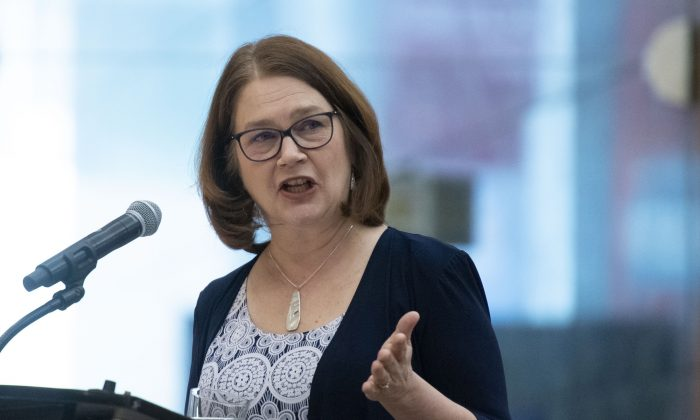 Liberal MP Jane Philpott, delivers speaks at an event on March 8, 2019.  (The Canadian Press/Justin Tang)