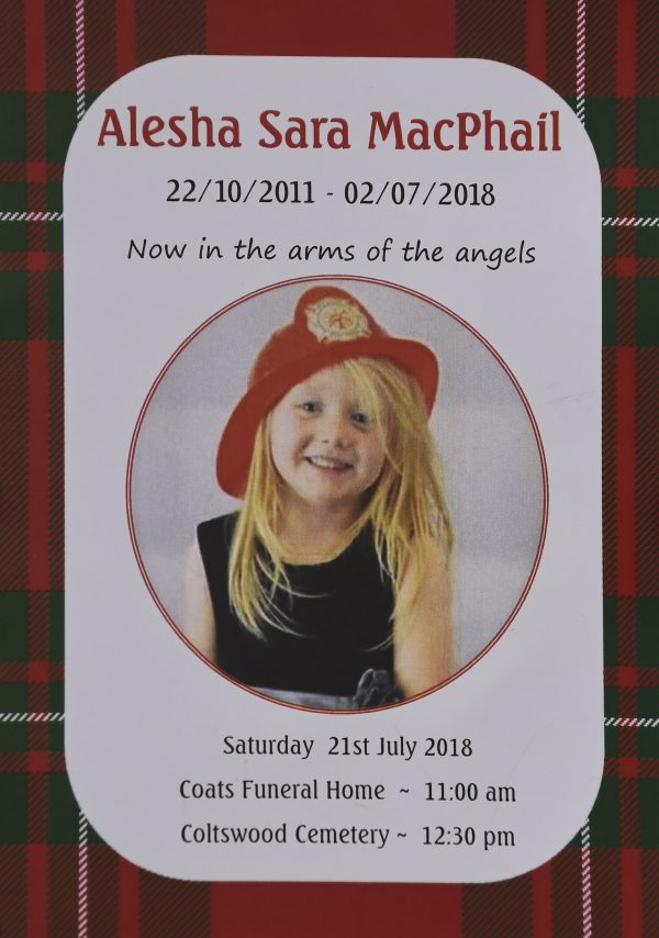 Murdered Schoolgirl, Alesha McPhail