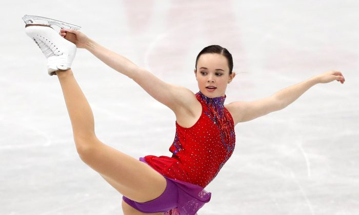 ISU Grand Prix of Figure Skating NHK Trophy–Ladies Free Skating—Osaka, Japan, Nov. 11, 2017 - Mariah Bell of the U.S. in action. (Kim Kyung-Hoon/Reuters)