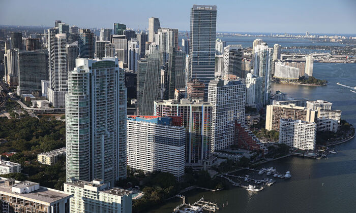 Condo buildings are seen in Miami, Florida on April 5, 2016. (Joe Raedle/Getty Images)