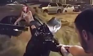 Heroic Man Risks His Life for Woman Is Trapped in Car in Raging Flood Waters