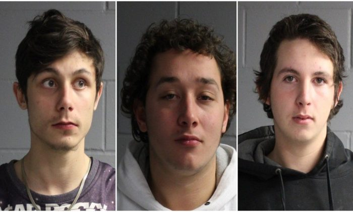 Paul Dustin, Israel Rivera, Brandon Lemieux (Seabrook Police Department)