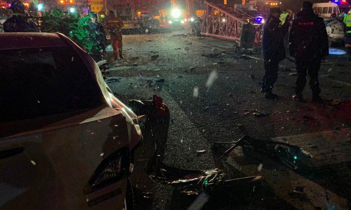 Car crash in China. (STR/AFP/Getty Images)