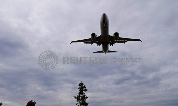 A stock photo of a plane. (Joshua Roberts/Reuters)