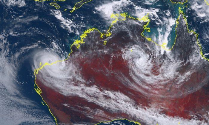 Cyclone Veronica approached landfall on March 24, 2019. (Screenshot/Himawari-8/JMA/NASA)