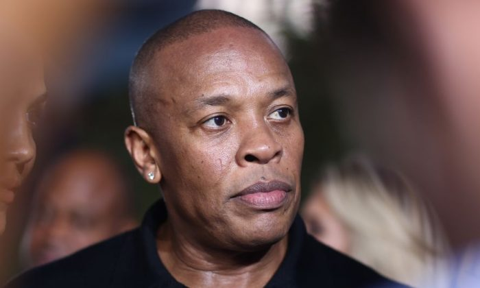 """FILE—Dr. Dre at the Los Angeles premiere of """"Straight Outta Compton,"""" on Aug. 10, 2015. (John Salangsang/Invision/AP, File)"""