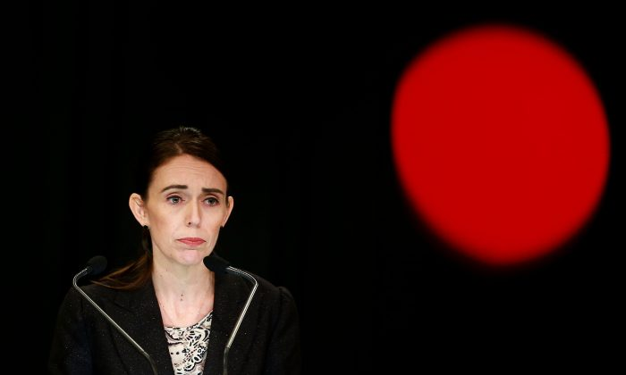 Prime Minister Jacinda Ardern speaks to media during a press conference at Parliament in Wellington, New Zealand on March 21, 2019. (Hagen Hopkins/Getty Images)