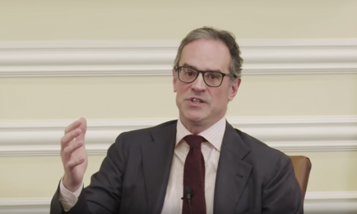 Michael Anton speaks at Hillsdale College's Kirby Center for Constitutional Studies and Citizenship in Washington on March 12, 2019. (screenshot/Hillsdale College)