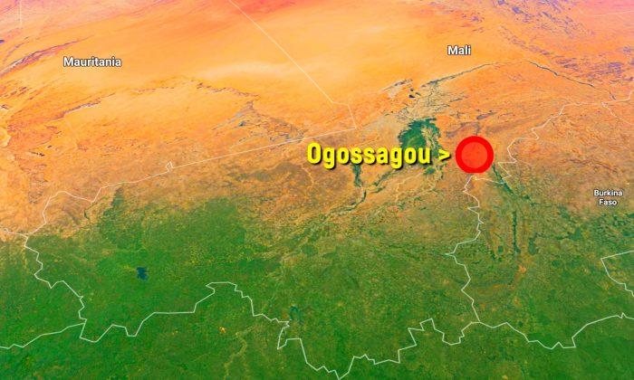 Map shows Ogossagou in Mali, Africa. (Screenshot/Google Maps)
