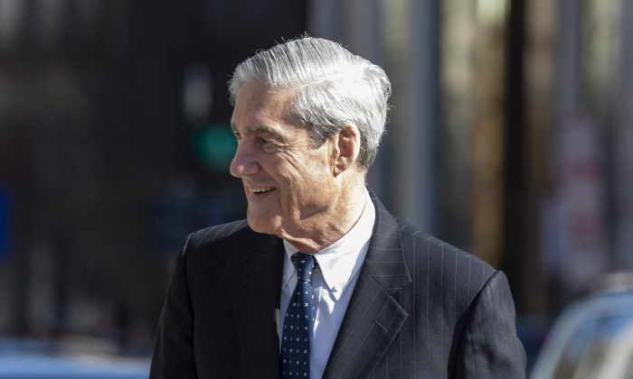 Special counsel Robert Mueller after attending church in Washington on March 24, 2019. (Tasos Katopodis/Getty Images)