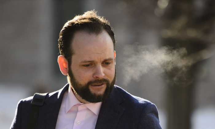 Joshua Boyle arrives to court in Ottawa on March 25, 2019. (The Canadian Press/Sean Kilpatrick)