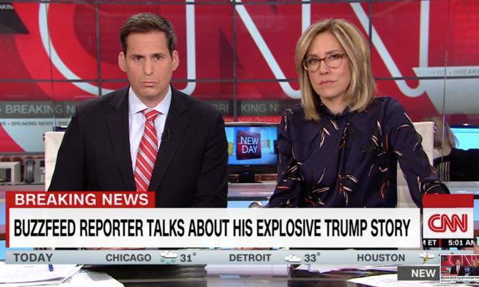 CNN interviews Buzzfeed News reporter Anthony Cormier on Jan. 18, 2019. (Screenshot/CNN)