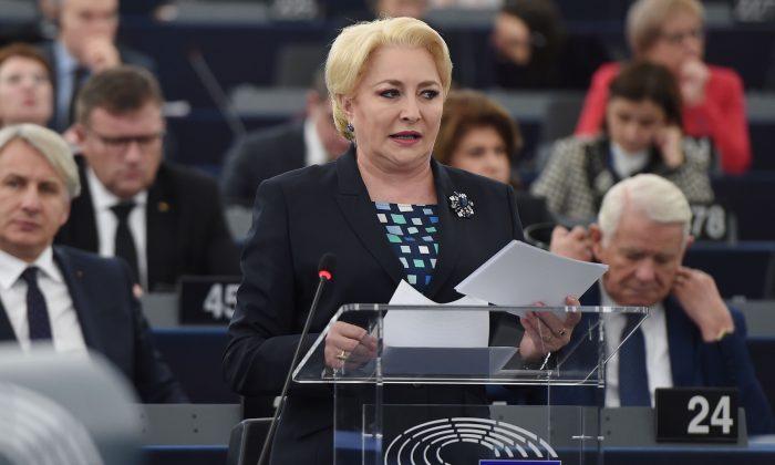 Romanian Prime Minister Viorica Dancila. (Frederick Florina/AFP/Getty Images)
